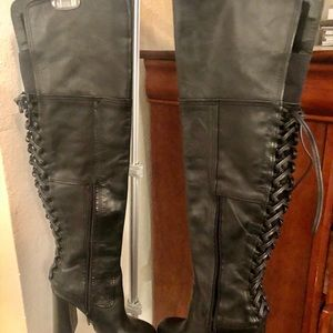 Over the knee black boots - never worn